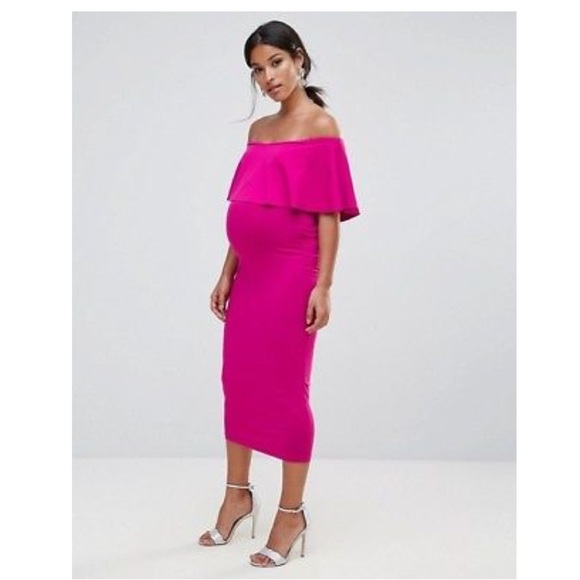 68a669340e5e0 ASOS Maternity Dresses & Skirts - ASOS Maternity Midi Bardot Pencil Dress